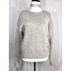 Trendy Grey Teddy Bear Sweater